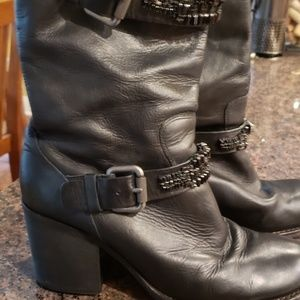 Vera Wang Lavendar bejeweled buckle boots size 9